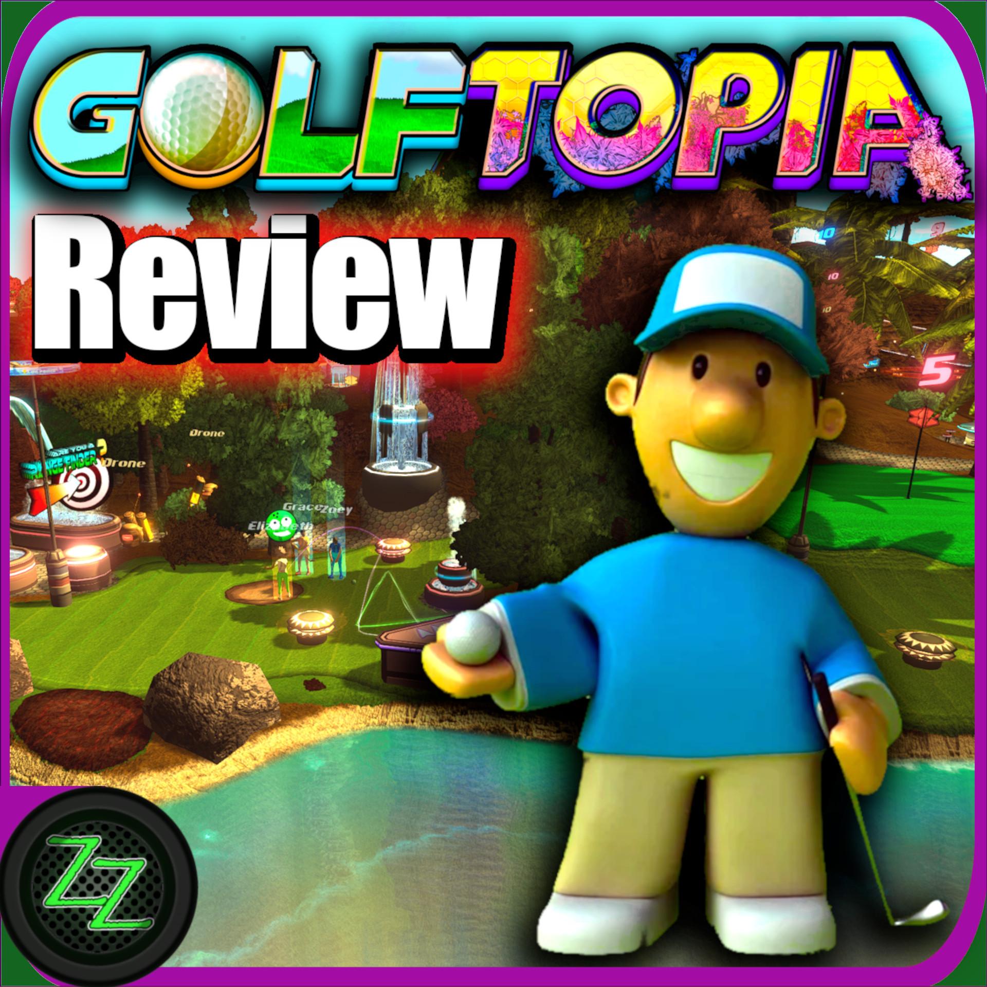 Golftopia Review-Test – SciFi Golfer in bunt – SimGolf or SimTycoon – by zapzockt.de
